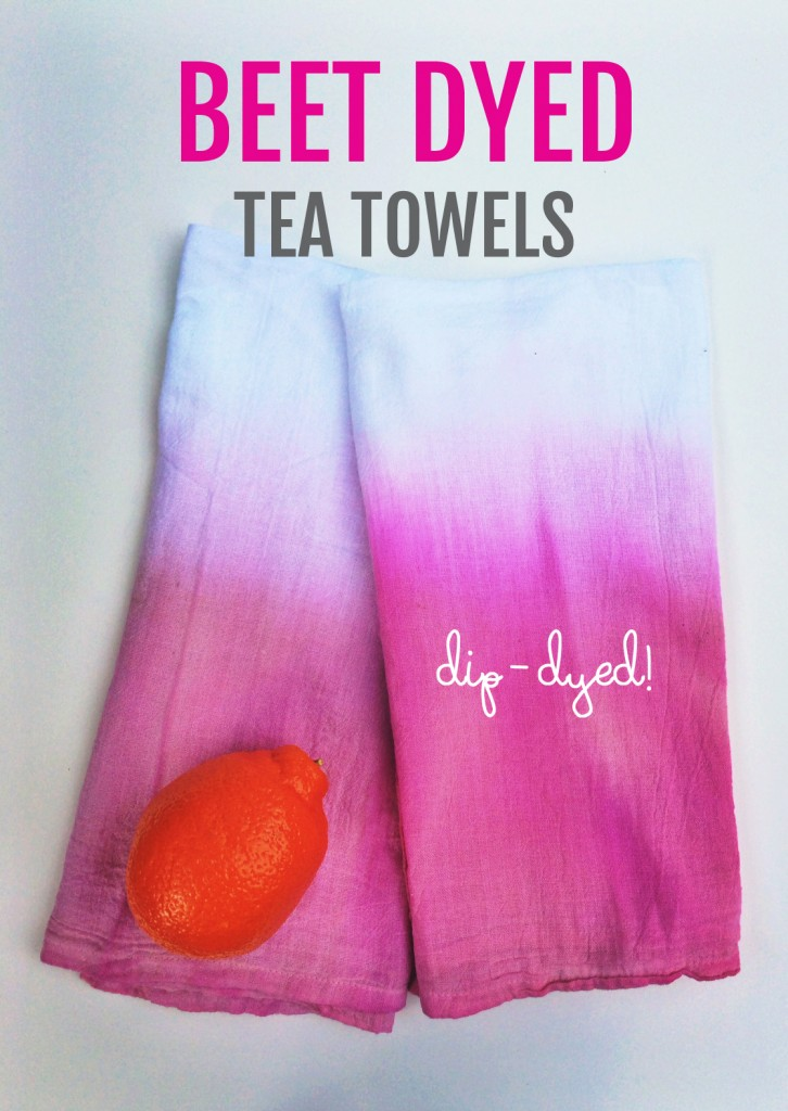 beet dyed towels