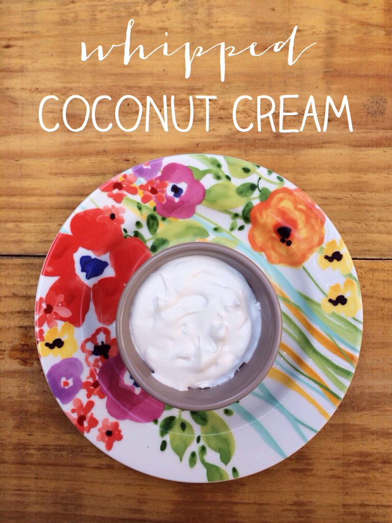 whipped coconut cream