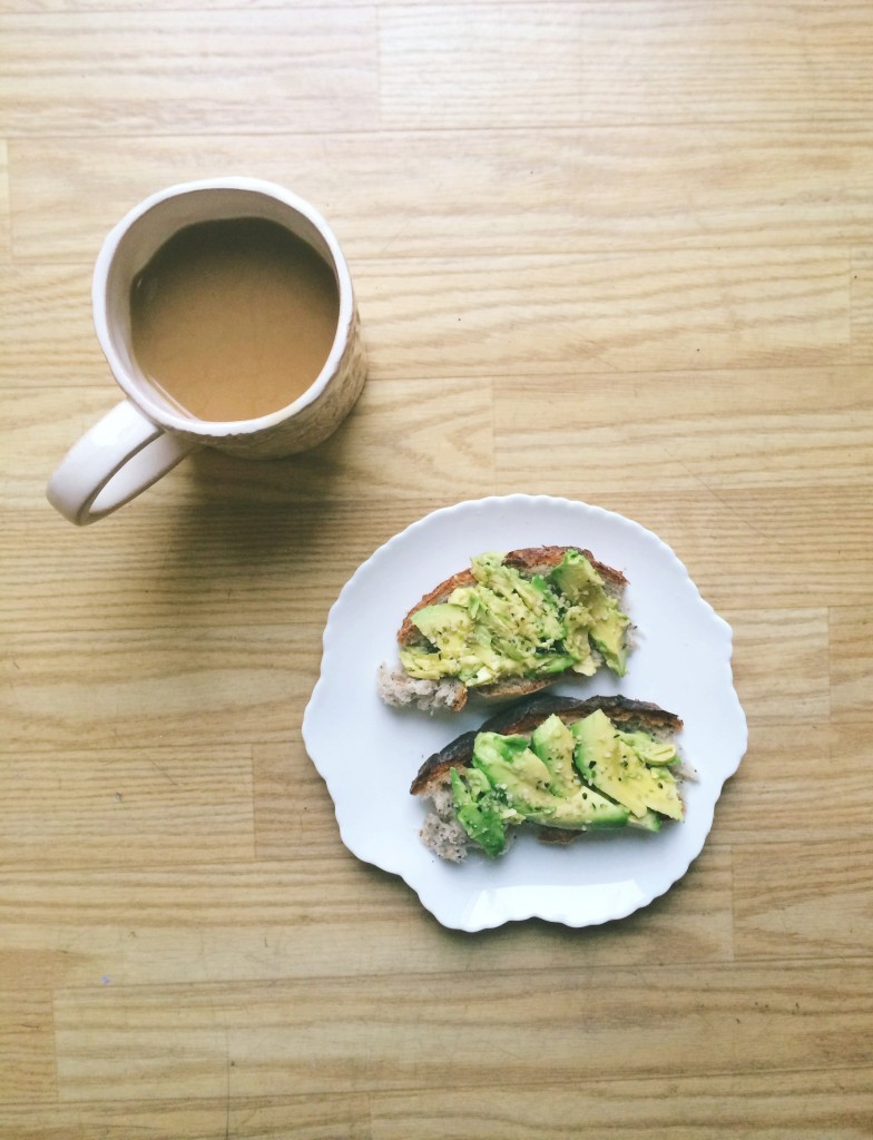 rustic avocado hemp seed toast