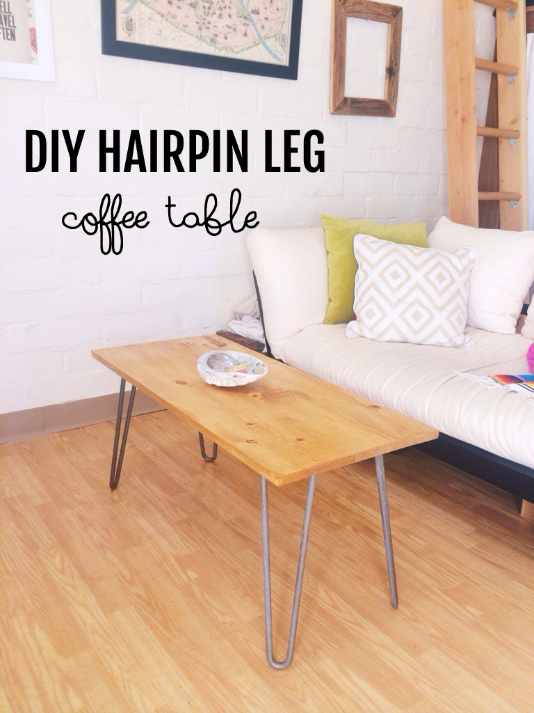 diy hairpin leg coffee table | london, like the city